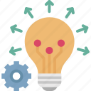 creative, creative idea, idea, innovation, knowledge icon