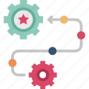 management, operation, planning, process, strategy icon