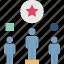 advantage, differentiation, reward, unique, winner icon