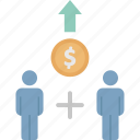 collaborate, firm, partner, stockholder, teamwork icon