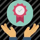 award, guarantee, quality, standard, warranty icon