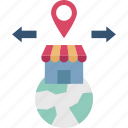 ramification, market, location, branch, shop icon
