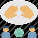 cohesion, collaborate, compromiser, participate, partnership icon