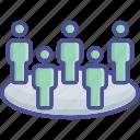 agenda, citizen, crowd, manifesto, team icon