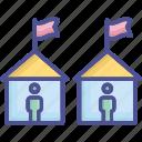 habitation, house, neighborhood, settlement, village icon