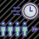 fast, fast growth, forward, hasty, team growth icon
