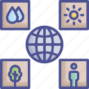 earth, ecological, environment, new environment icon