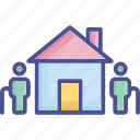 aged, almshouse, old, population, society icon