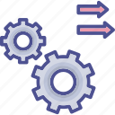 activity, flexible, flow, processing, work processing icon