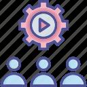 collaborate, mission, organization, staff, team icon