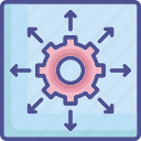 direction, expand, limit, margin, restrict icon