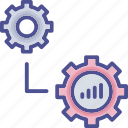 development, evolutionary, growth, process, profit icon