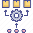 industry, manufacturing, method, production, pull icon