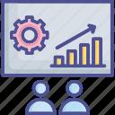 board, presentation, project, staff, team icon