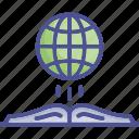 earth, geographical, geographical book, geographical study, globe icon