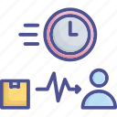 delivery, lead, parcel, productivity, time icon
