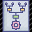 chart, duty, management, organization, principle icon