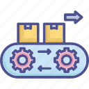 factory, machine, manufacturing, parcel, production icon