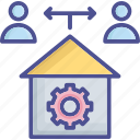 contribute, customer, production, provide, supply icon