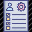 agenda, checklist, program, schedule, tasklist icon