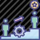 development, drill, motivation, successful, training icon