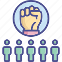authorize, empowered, power, synergy, team icon