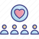 confide, fanclub, favorite, heart, love icon