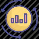 data, estimate, evaluate, evaluate processing, process icon