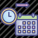 calendar, date, future, long, moment icon