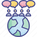 chat, communication, connection, interaction, message icon