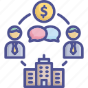 business, businessman, counterparty, finance, negotiate icon