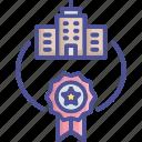 achievement, corporate, guarantee, quality, reward icon