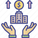 bank, benefit, business, corporate, financial benefit icon