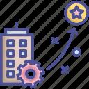 achievement, award, planning, procedure, strategy icon