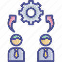 business, collaborate, group, management, participation icon