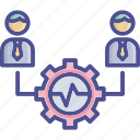 activity, collaborate, colleague, management, synergy icon