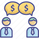 business, business talk, dealing, negotiation, purchasing icon