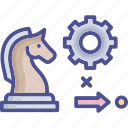 business, cogwheel, goal, marketing goal, planning icon