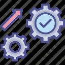 execution, goal, method, process, system icon