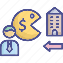 acquirer, business, buyer, company, expenditure icon