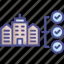 company, criteria, norm, quality, regularity icon