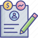 business, contract, deal, sign, transaction icon