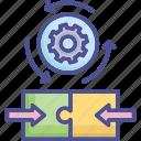 collaborate, deal, integration, partner, shareholder icon