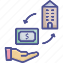 asset, buy, company, firm asset, purchase icon