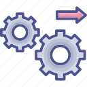 engine, implementary, mechanism, process icon