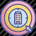 aim, company, company target, goal, point icon