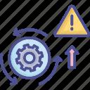 assessment, danger, process, risk, system icon