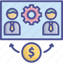 commission, employee, hire, salary, worker icon