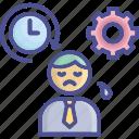 force, overwork, pressure, stress, work pressure icon