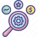 assessment, data, information, research, valuation icon